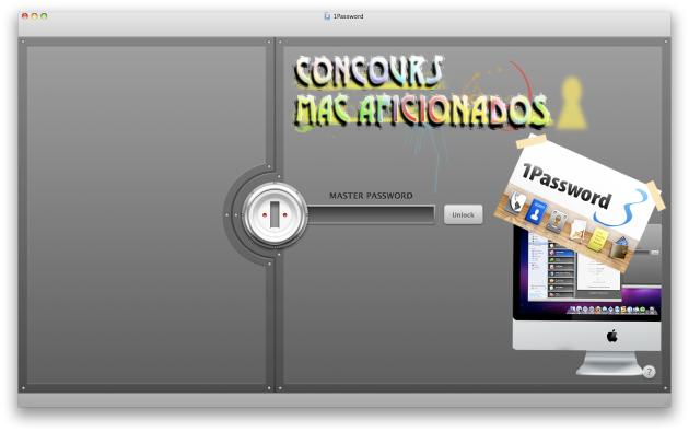 1Password™ concours Mac Aficionados