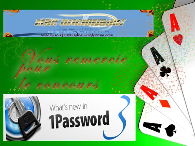 Mac Aficionados concours 1Password