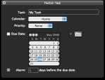 FlexCal fenêtres des tâches