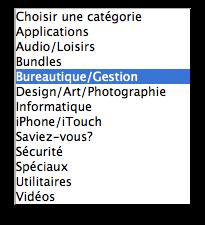Catégories Mac Aficionados™