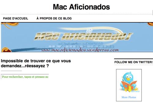 Message d'erreur Mac Aficionados™
