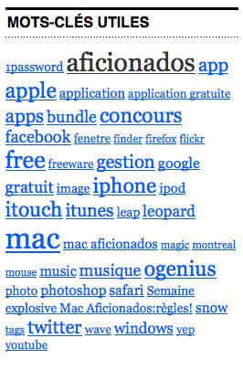 Mots-clés Mac Aficionados™
