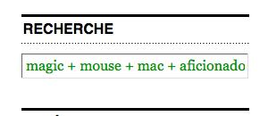 Recherche Mac Aficionados™