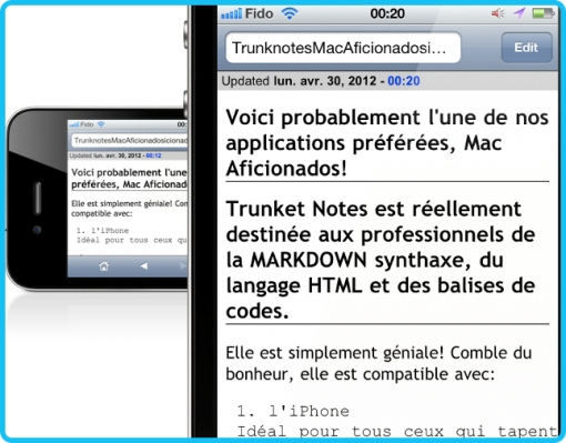 Trunk Notes Mac Aficionados