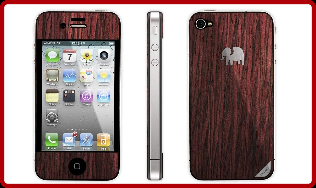 iPhone 4S: Trunket America Rosewood   Mac Aficionados