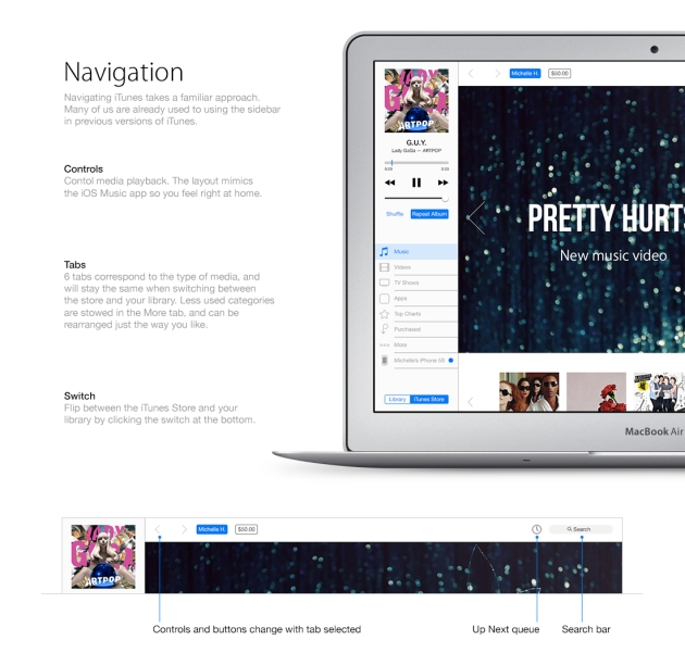 Navigation new iTunes
