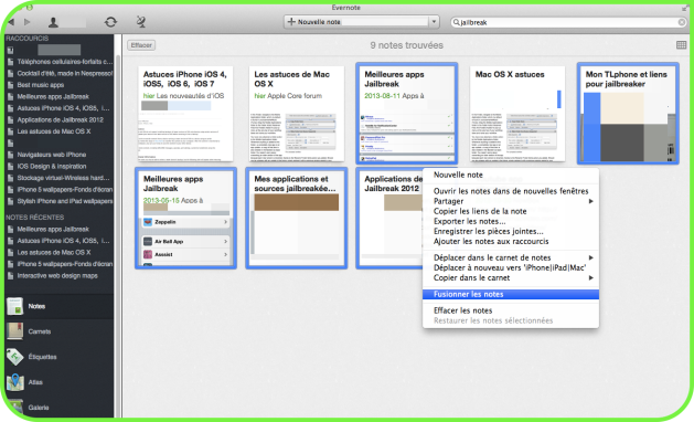 Evernote fusion notes