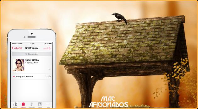 iOS 7 recherche musique