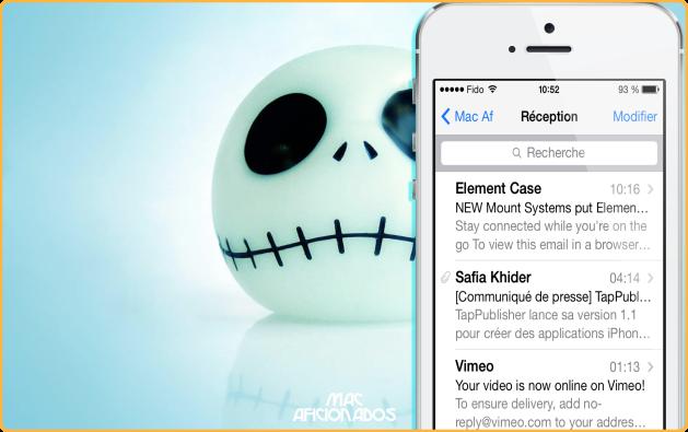Comment rechercher dans Mail iOS 7