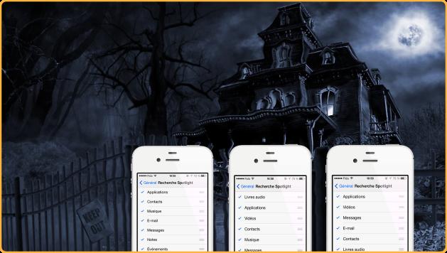 Reorganiser Spotlight sous iOS 7