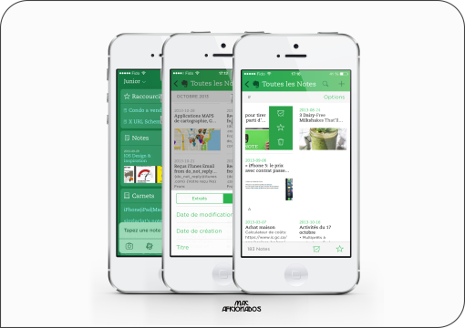 Evernote perspectives iOS 7