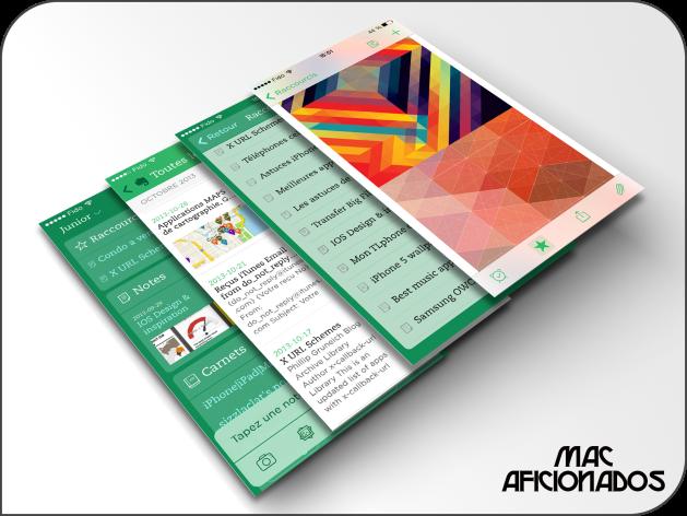 Evernote iOS 7