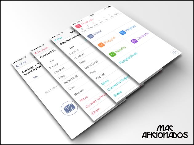 Omnifocus pour iOS7