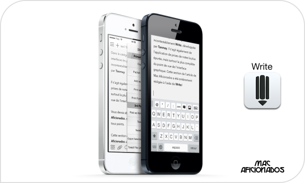 Write iPhone iOS 7