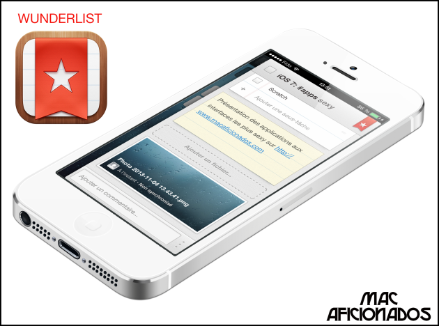 Wunderlist iOS 7 iPhone 5s