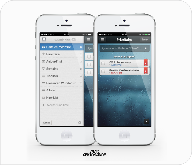 Wunderlist iOS 7 application