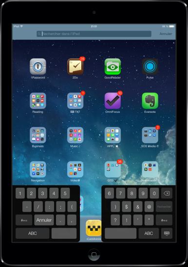 Clavier iOS 7 iPad mini astuces