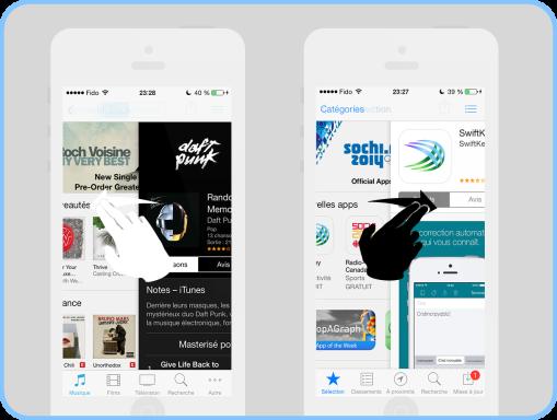 iOS 7 astuce navigation