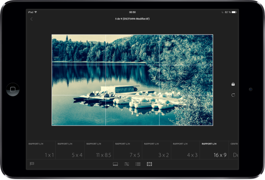 Adobe Lightroom mobile iPad