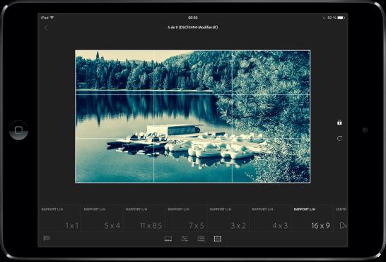 Adobe Lightroom mobile iPad