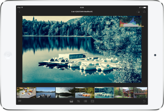 Adobe Lightroom mobile sur iPad