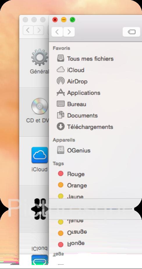 Boutons OS X Yosemite