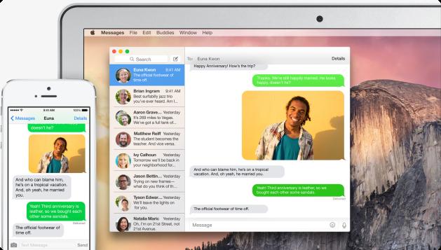 Mac iOS SMS