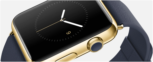 Apple Watch gold couronne iPhone 6