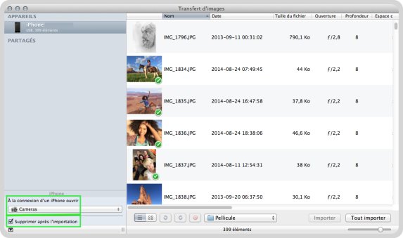 Astuce supprimer photos iPhone iPad