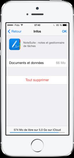 Augmenter stockage iCloud iOS 8