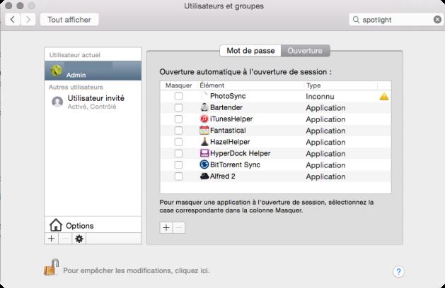 Demarrage OS X Yosemite