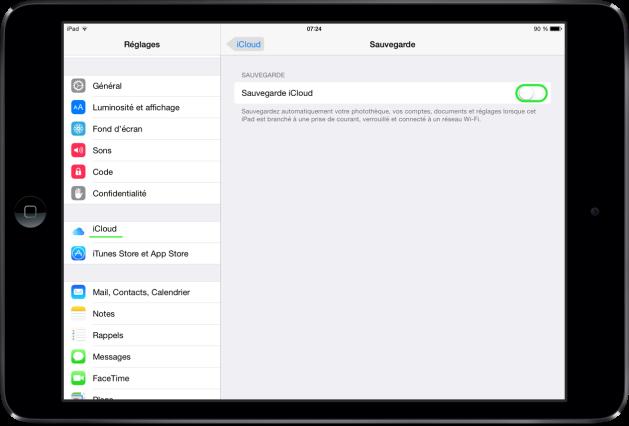 iOS 8 sauvegarde iCloud