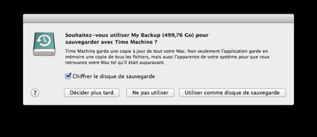 Time Machine sauvegarde mac